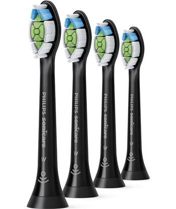 Philips HX6064/11 recambio cepillo dental optimal white negro (4 unidades) - HX606411